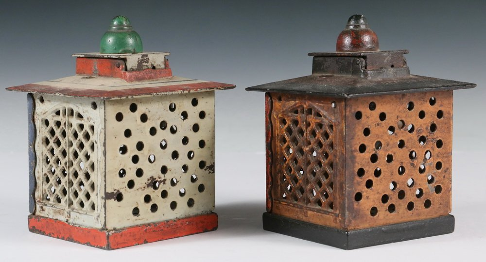 MECHANICAL BANKS - Two 19th c. 'Hall's Excelsior Bank' - 3