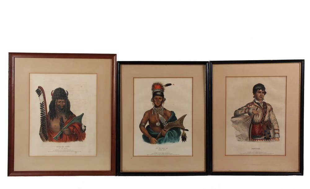 (3) NATIVE AMERICAN PORTRAITS - From the 1836-44 folio