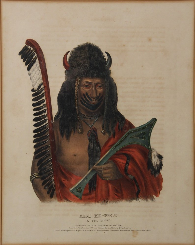 (3) NATIVE AMERICAN PORTRAITS - From the 1836-44 folio - 4