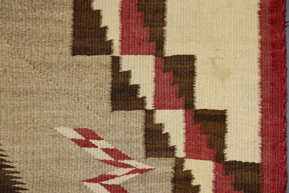 "NATIVE AMERICAN RUG - 40"" x 63 1/2"" - Antique Navajo - 3"