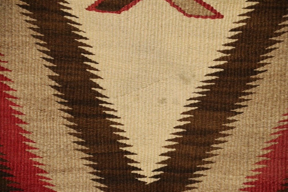 "NATIVE AMERICAN RUG - 40"" x 63 1/2"" - Antique Navajo - 4"