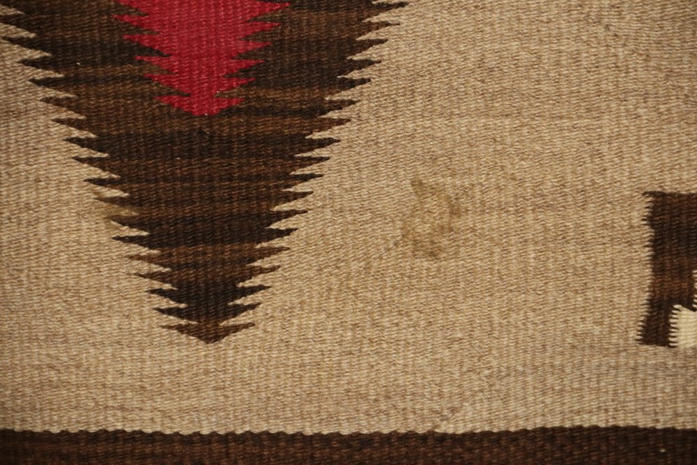 "NATIVE AMERICAN RUG - 40"" x 63 1/2"" - Antique Navajo - 5"