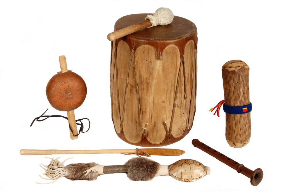 (7) NATIVE AMERICAN MUSICAL INSTRUMENTS - All