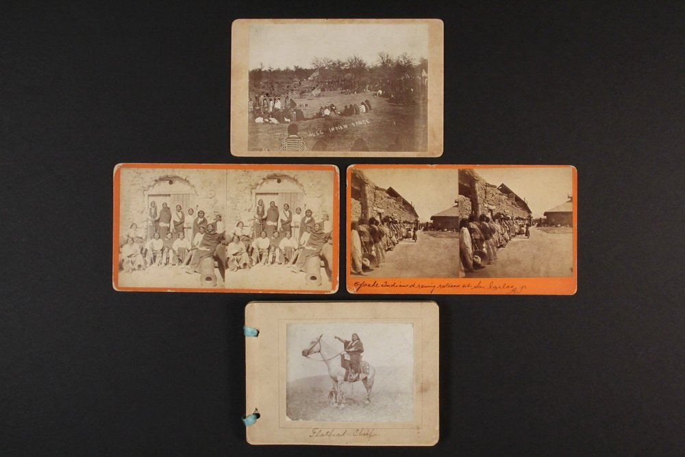 HISTORIC NATIVE AMERICAN PHOTOS: (1) CABINET CARD, (2)