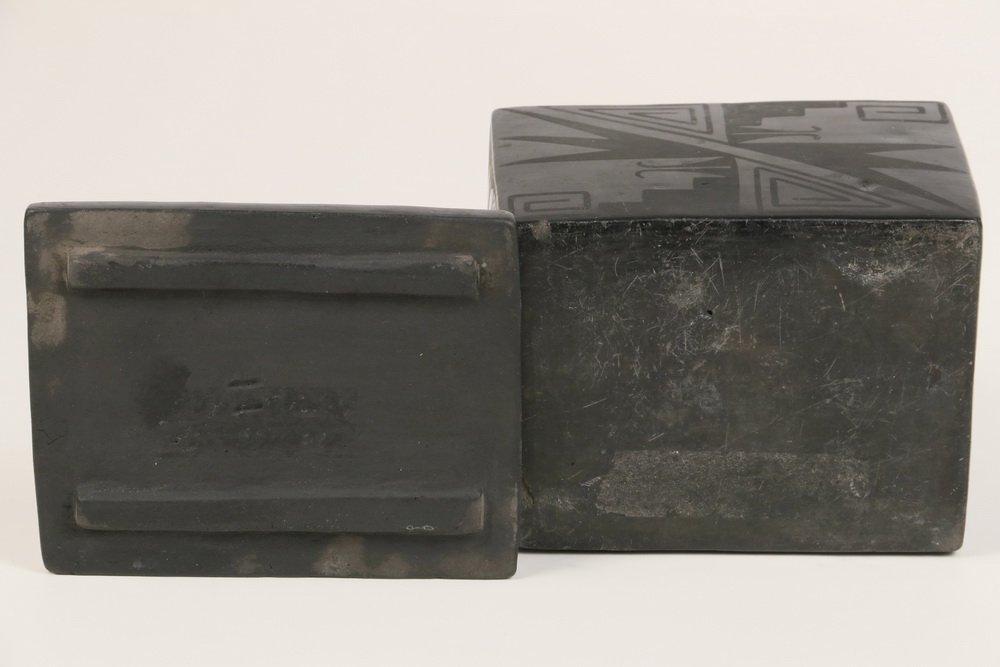 NATIVE AMERICAN POTTERY - Blackware Box, Maria - 4