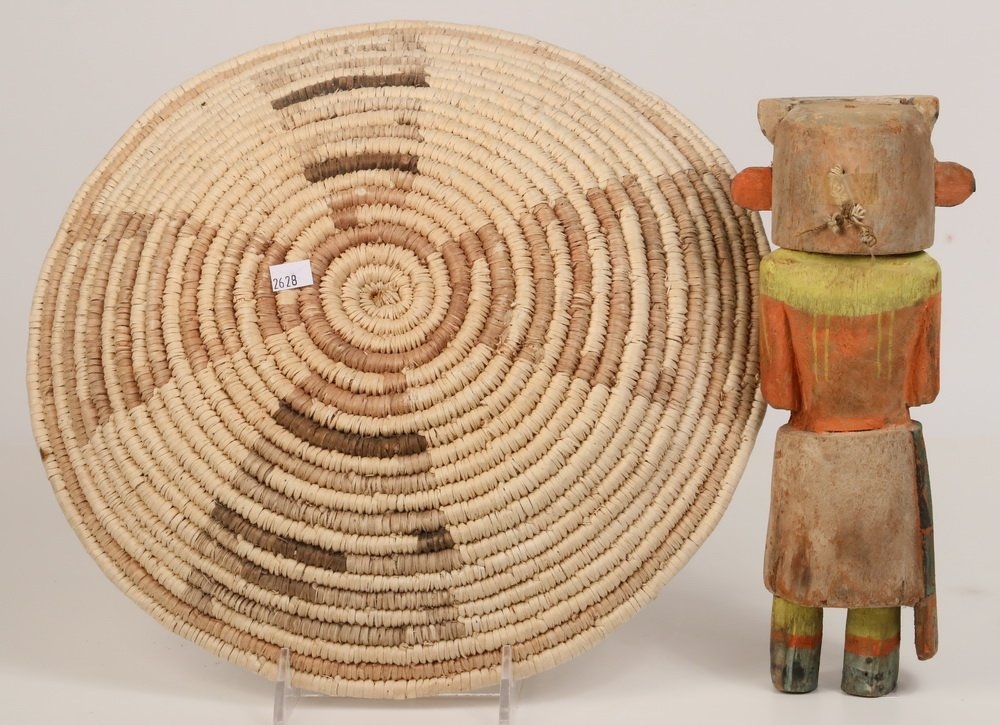 NATIVE AMERICAN DOLL & BASKET - Antique Hopi Kachina - 2