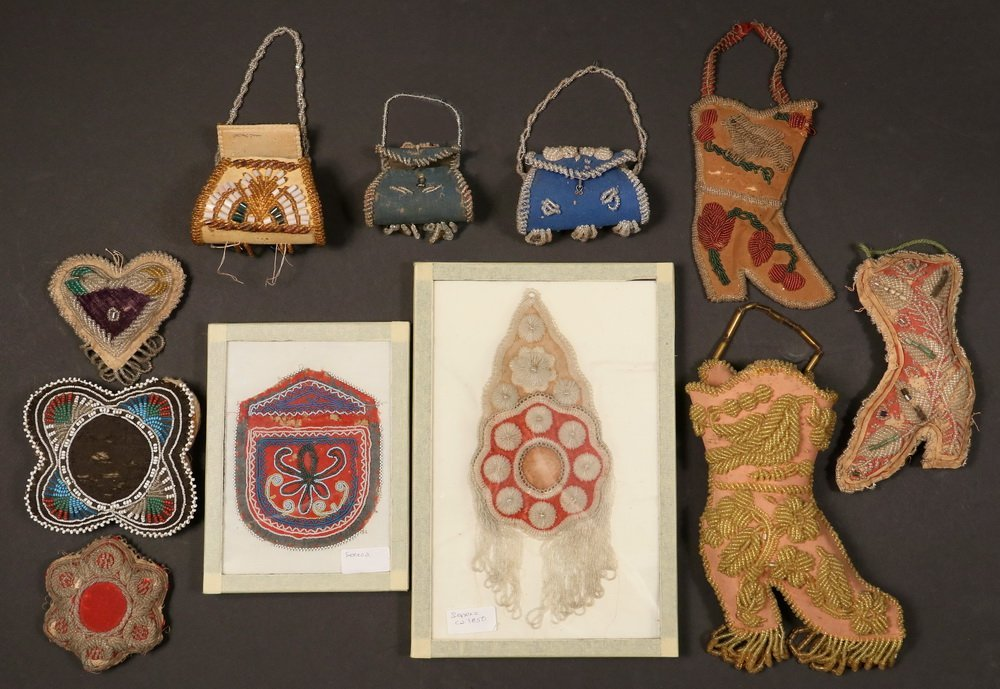 NATIVE AMERICAN BEADWORK - (11) Pcs of 19th & early