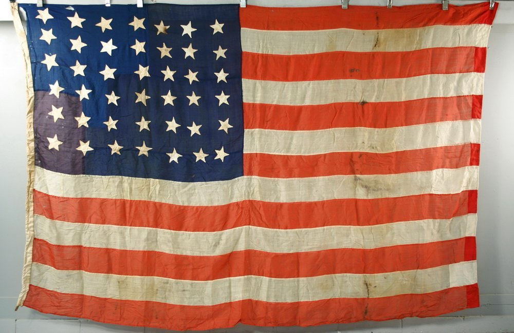 RARE US NAVY 42-STAR FLAG - American National Flag from