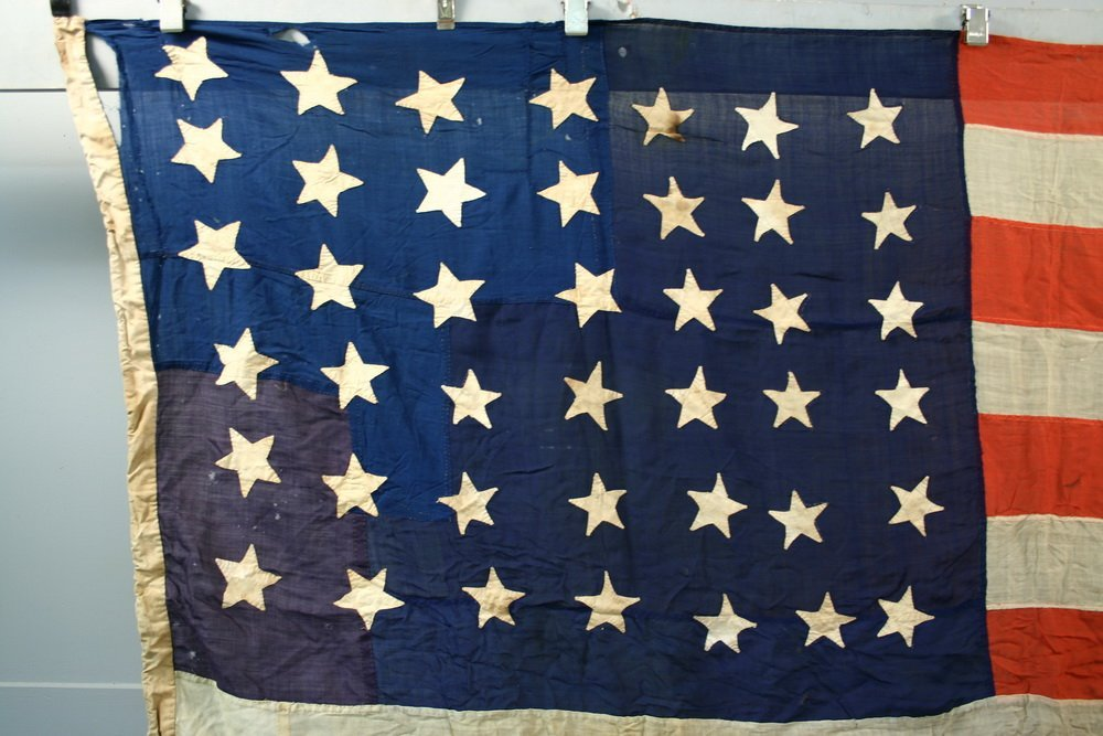 RARE US NAVY 42-STAR FLAG - American National Flag from - 2