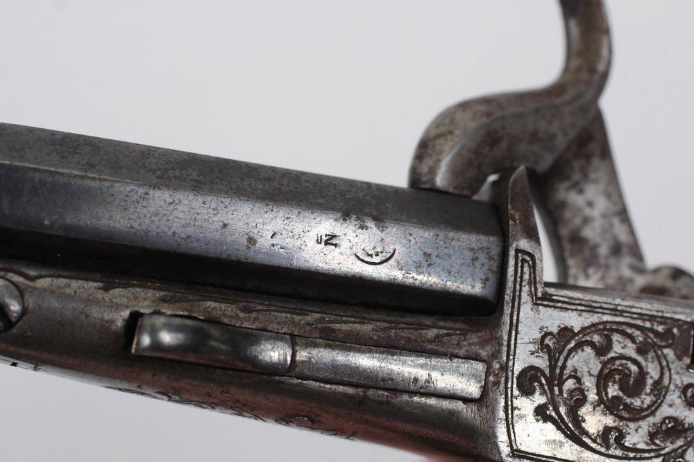 NAPOLEON III BELGIAN MUFF PISTOL - Engraved Single Shot - 3