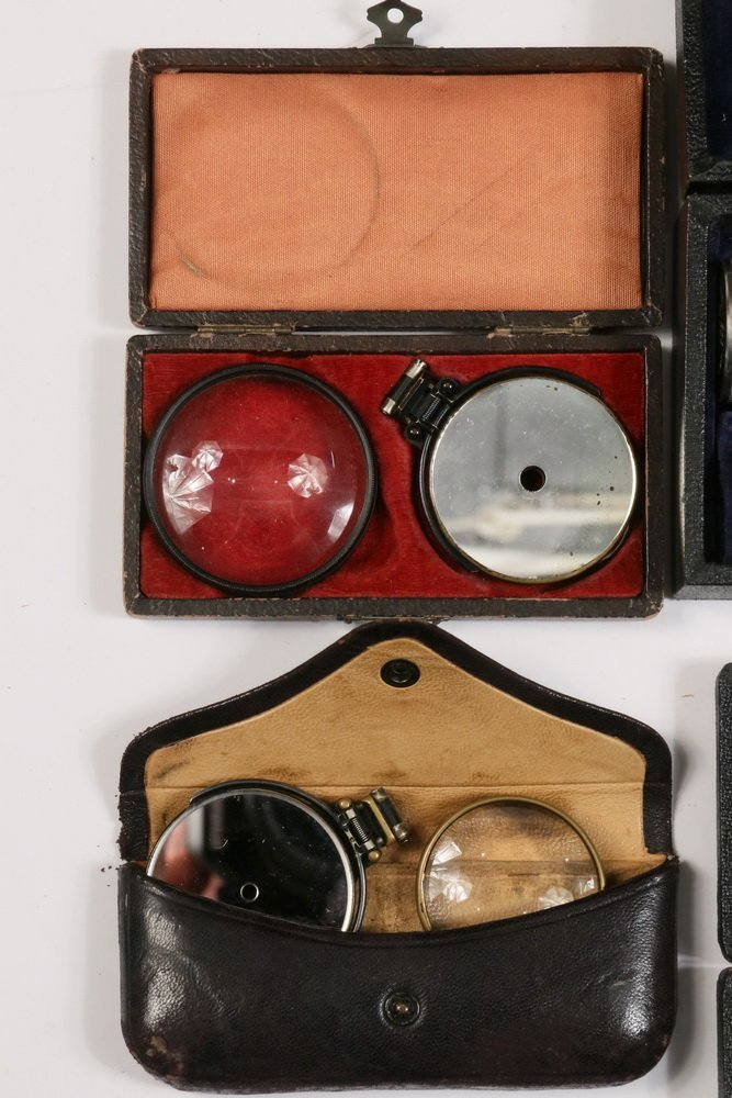 (6) CASED OPTHALMIC INSTRUMENTS, (1) UNCASED & - 2