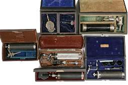 6 CASED MEDICAL INSTRUMENTS  Ostoscopes of various