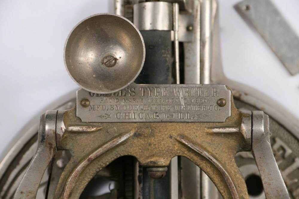 RARE EARLY AMERICAN TYPEWRITER - Odell #2 Index - 2