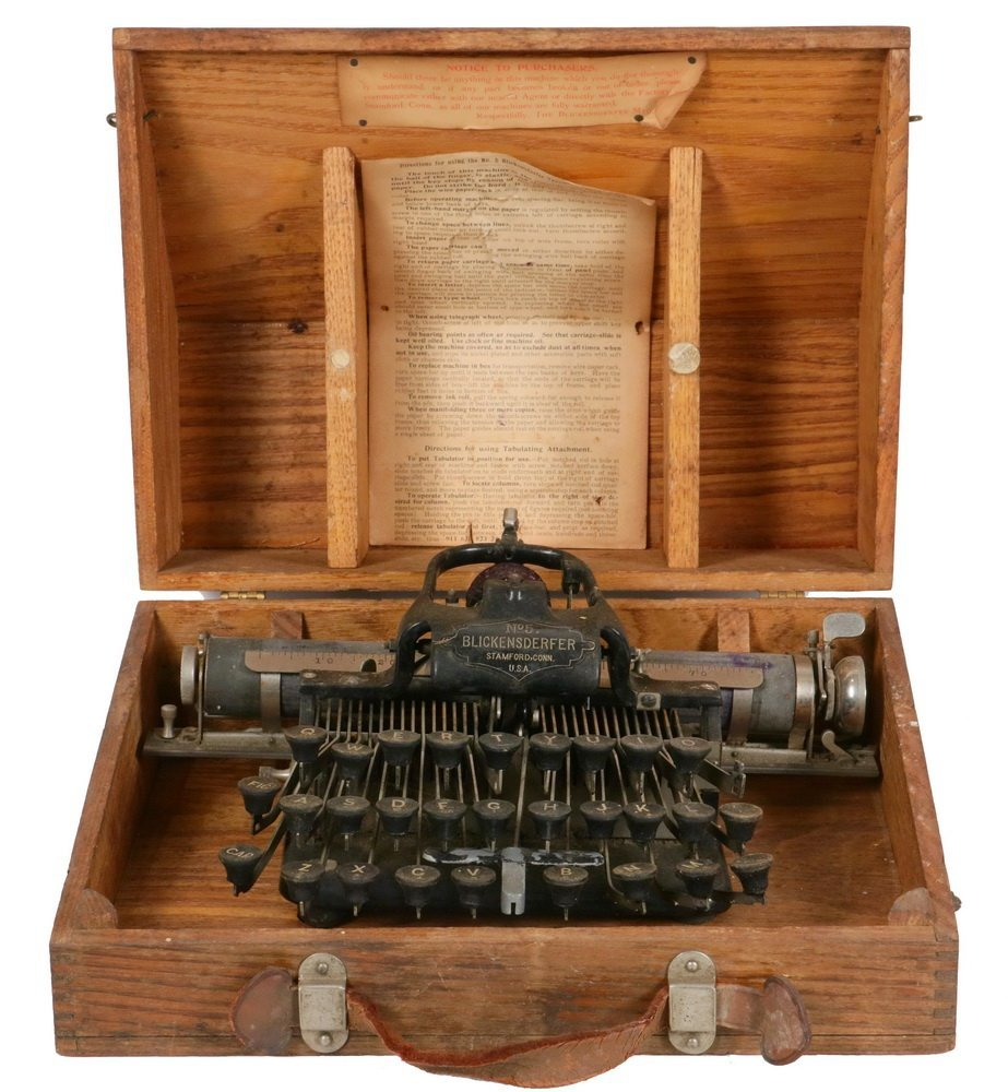 "SCARCE EARLY TYPEWRITER - The ""Blickensderfer 5"", the"