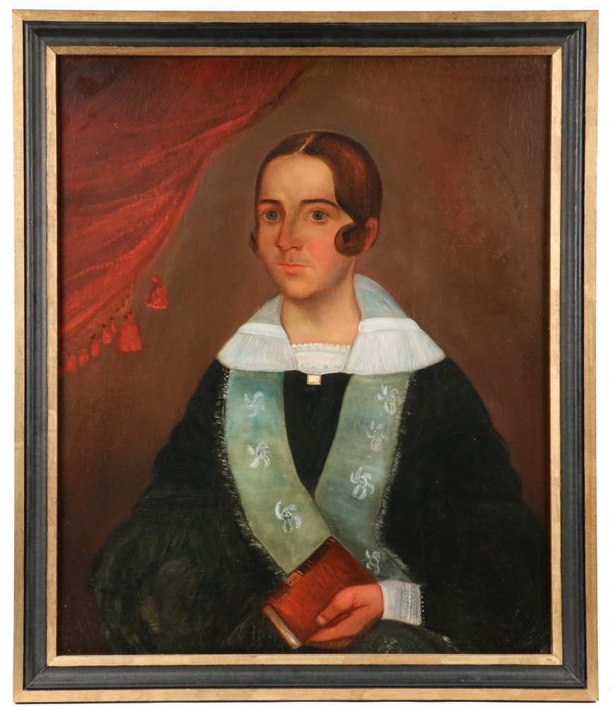 """WILLIAM OTIS BEMIS (MA, 1819-1883) - """"Mrs. Ch. Hall"""", a"""