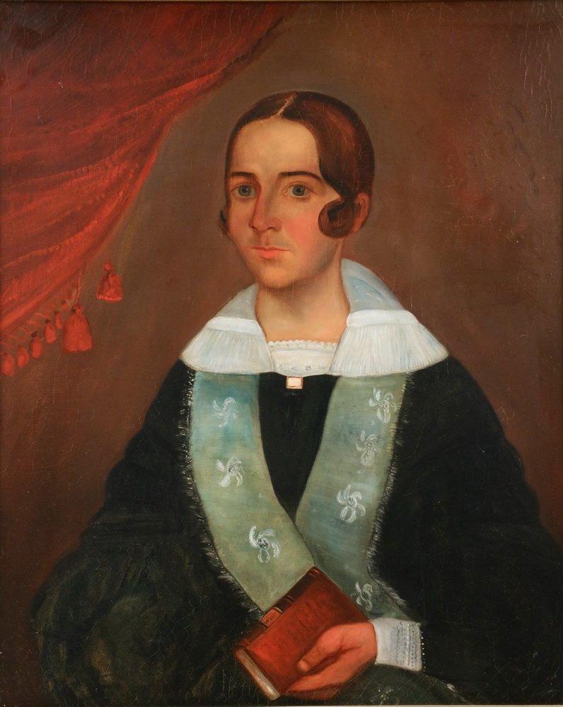 """WILLIAM OTIS BEMIS (MA, 1819-1883) - """"Mrs. Ch. Hall"""", a - 2"""