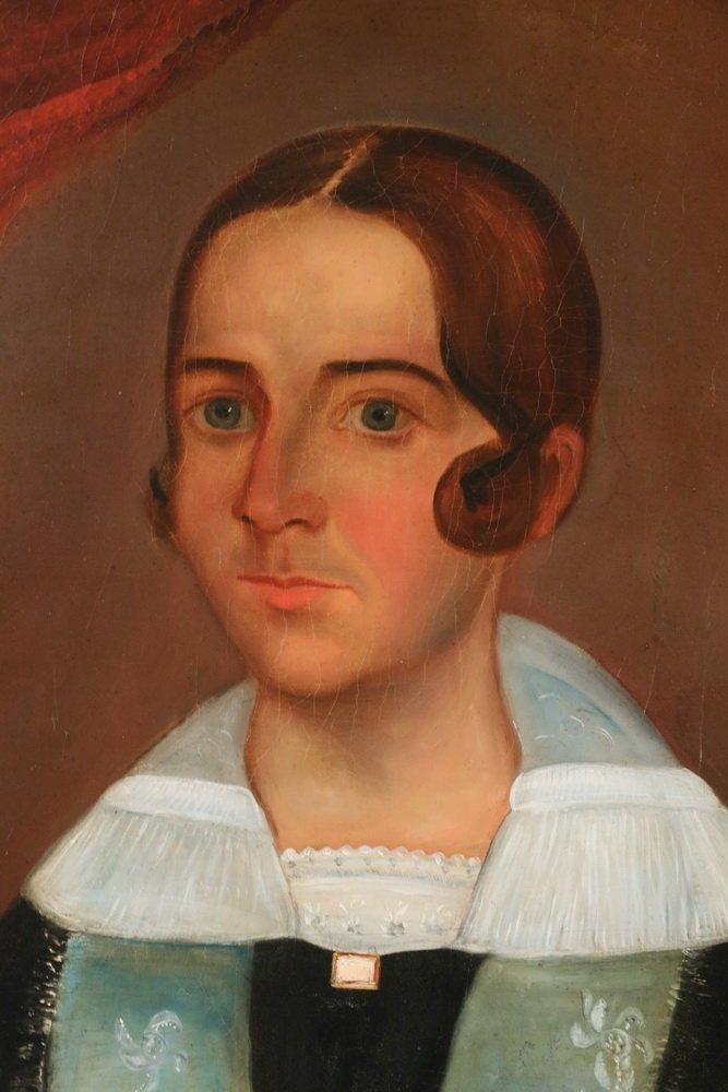 """WILLIAM OTIS BEMIS (MA, 1819-1883) - """"Mrs. Ch. Hall"""", a - 3"""