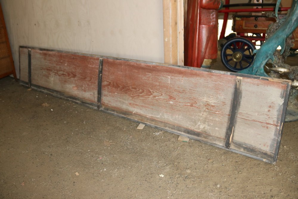 19TH C. TRADE SIGN - Large Single Pine Plank Painted - 3