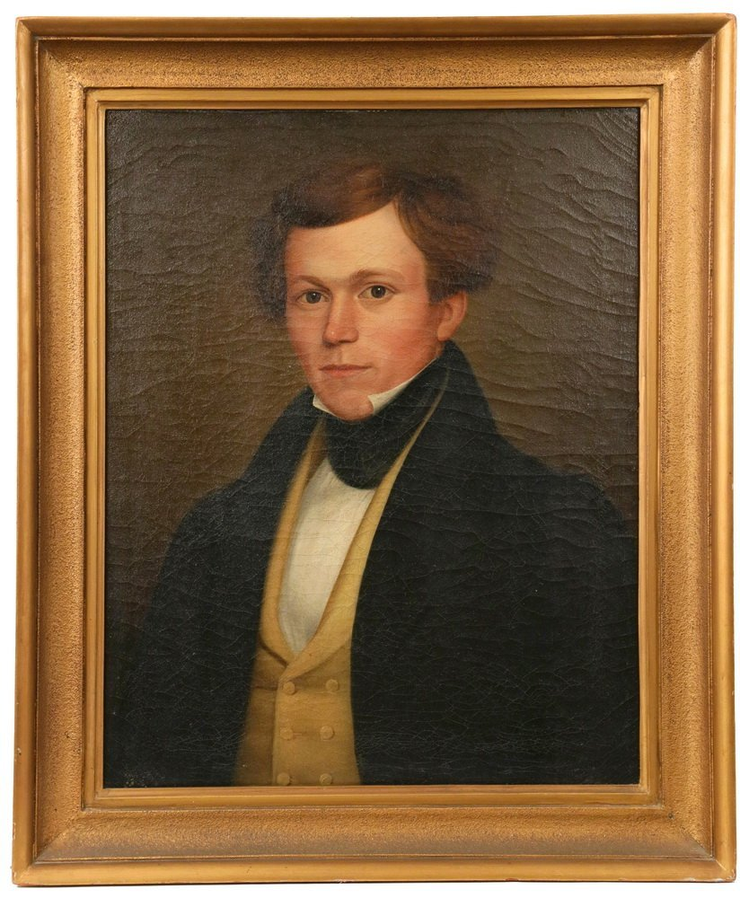 BOSTON SCHOOL ARTIST - Portrait of Handsome Young Man