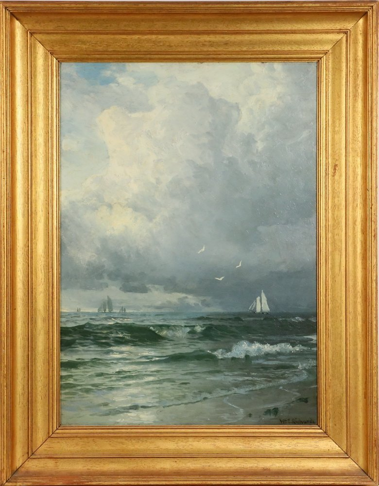 WILLIAM TROST RICHARDS (PA/RI, 1833-1905) - Stormy Sky