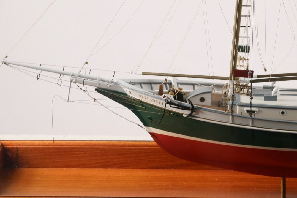 """CASED SHIP MODEL - """"Defiance"""" of Stamford, Connecticut, - 2"""