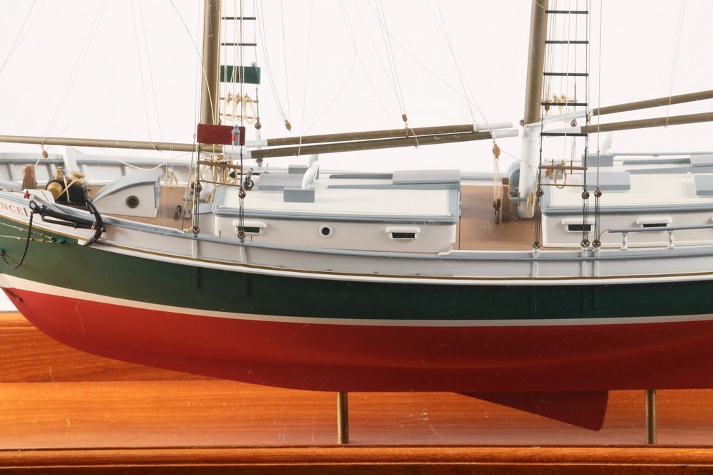 """CASED SHIP MODEL - """"Defiance"""" of Stamford, Connecticut, - 3"""