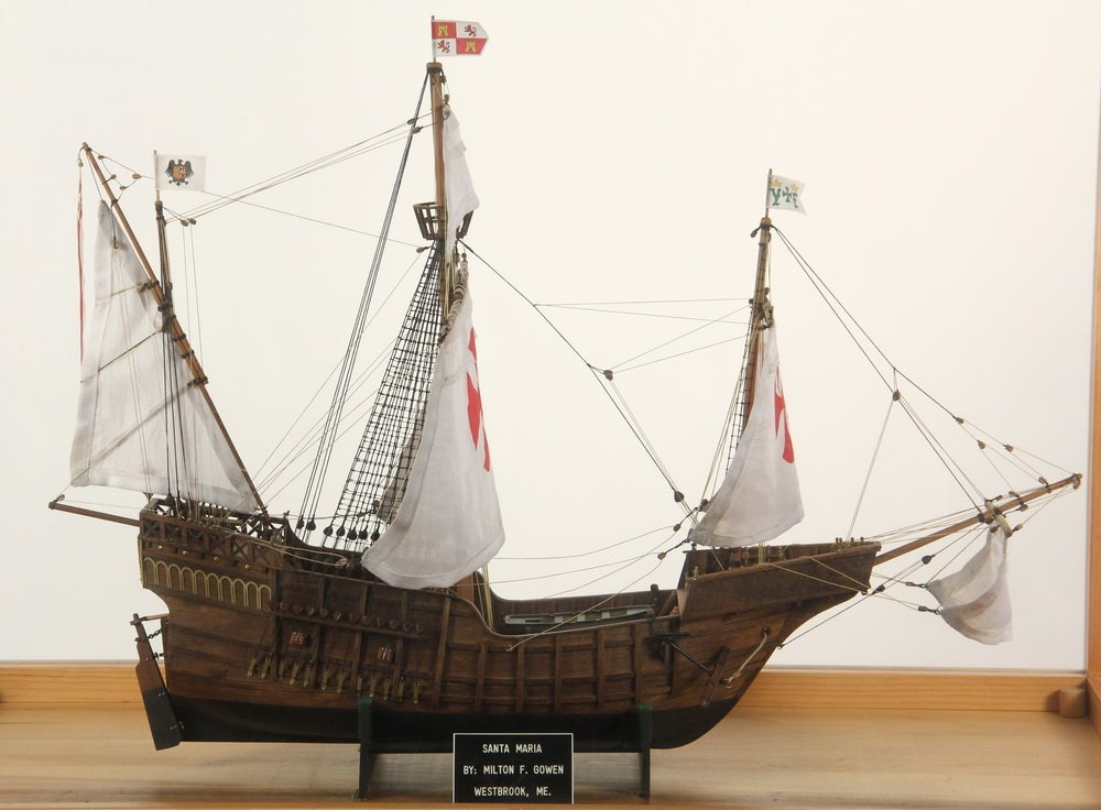 (2) CASED SHIP & BOAT MODELS - Both by Milton F Gowen - 3