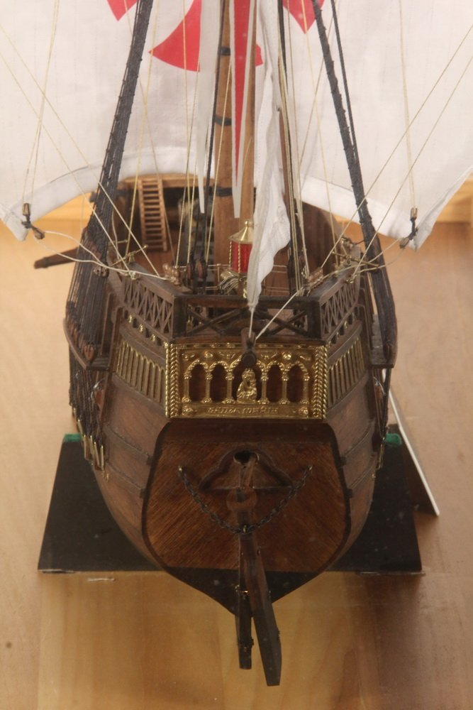 (2) CASED SHIP & BOAT MODELS - Both by Milton F Gowen - 6