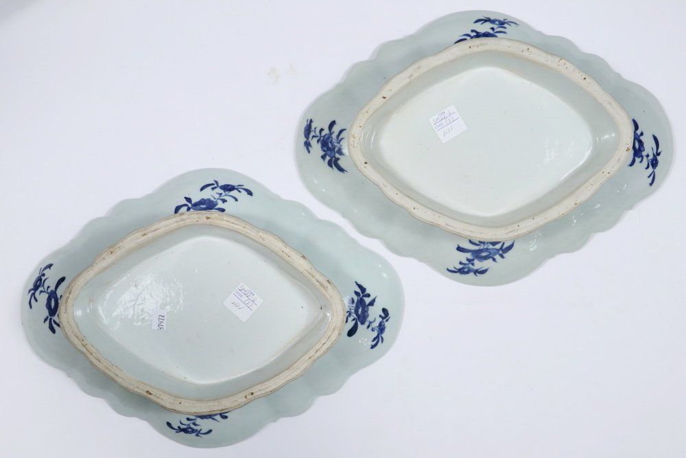 CURRY BOWLS - Pair of 19th c. Chinese Export Blue & - 4