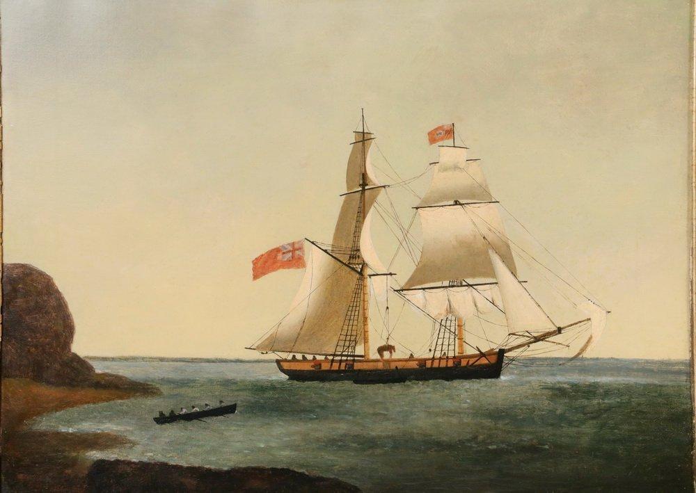 GEORGE HOUGHTON (19th c. British) - (2) Coastal Naval - 2