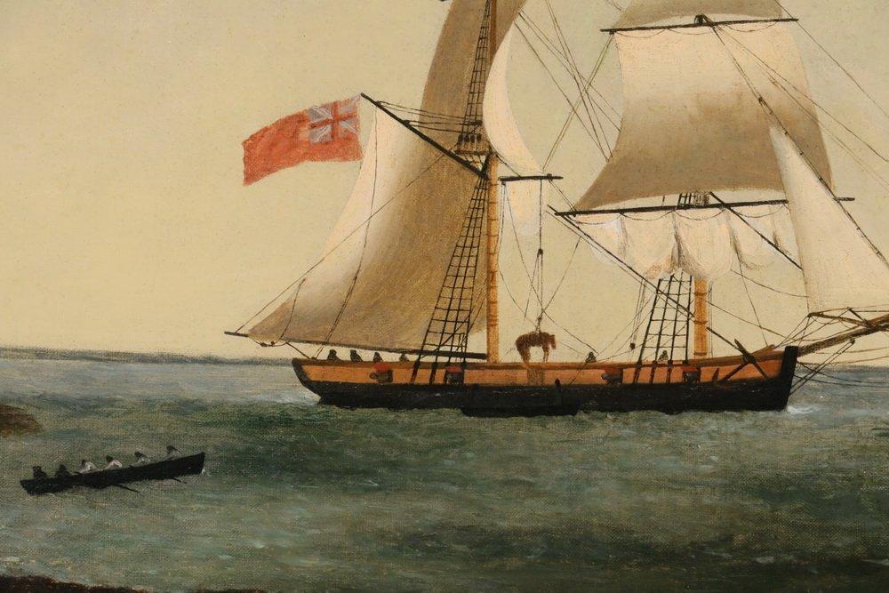 GEORGE HOUGHTON (19th c. British) - (2) Coastal Naval - 3