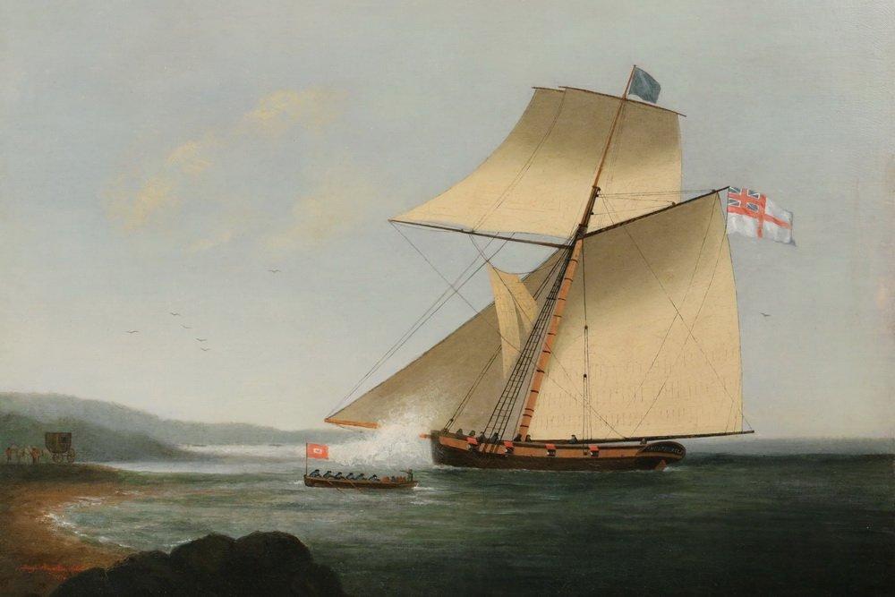 GEORGE HOUGHTON (19th c. British) - (2) Coastal Naval - 4