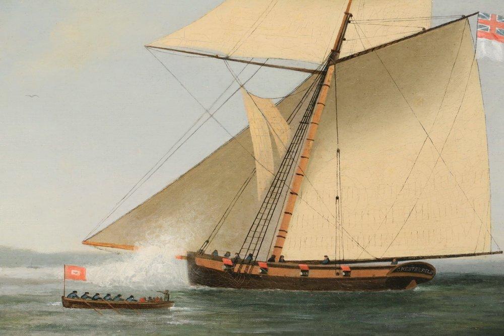 GEORGE HOUGHTON (19th c. British) - (2) Coastal Naval - 5