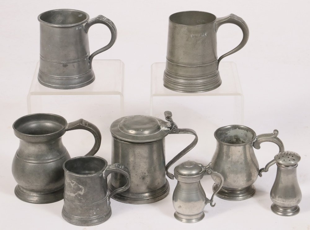 PEWTER COLLECTION - (35) Piece Group of 18th and 19th - 2