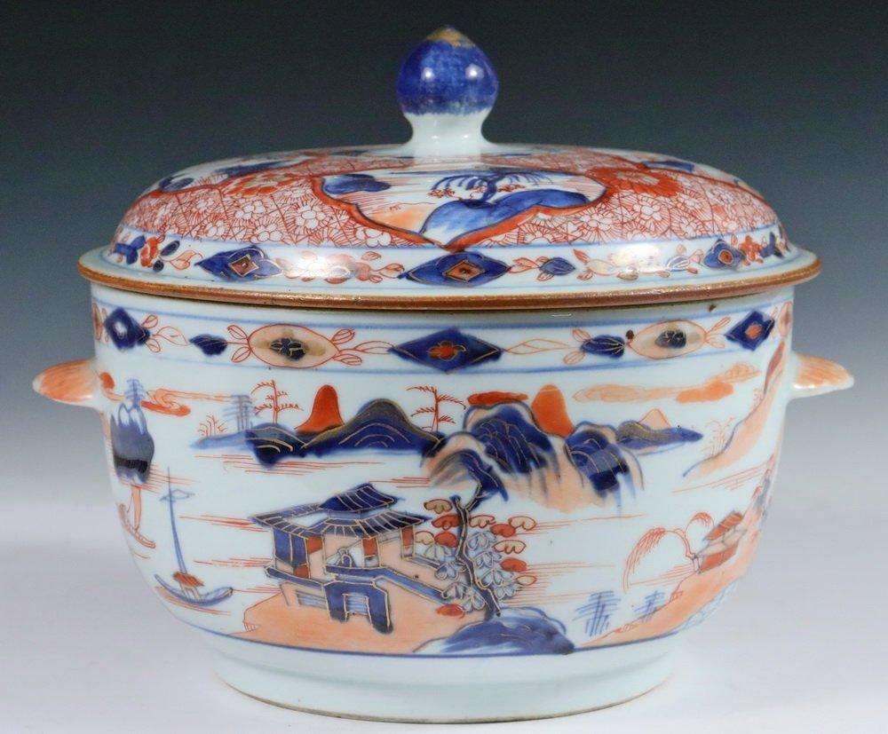 TUREEN - Chinese Export Imari Decorated Round Lidded