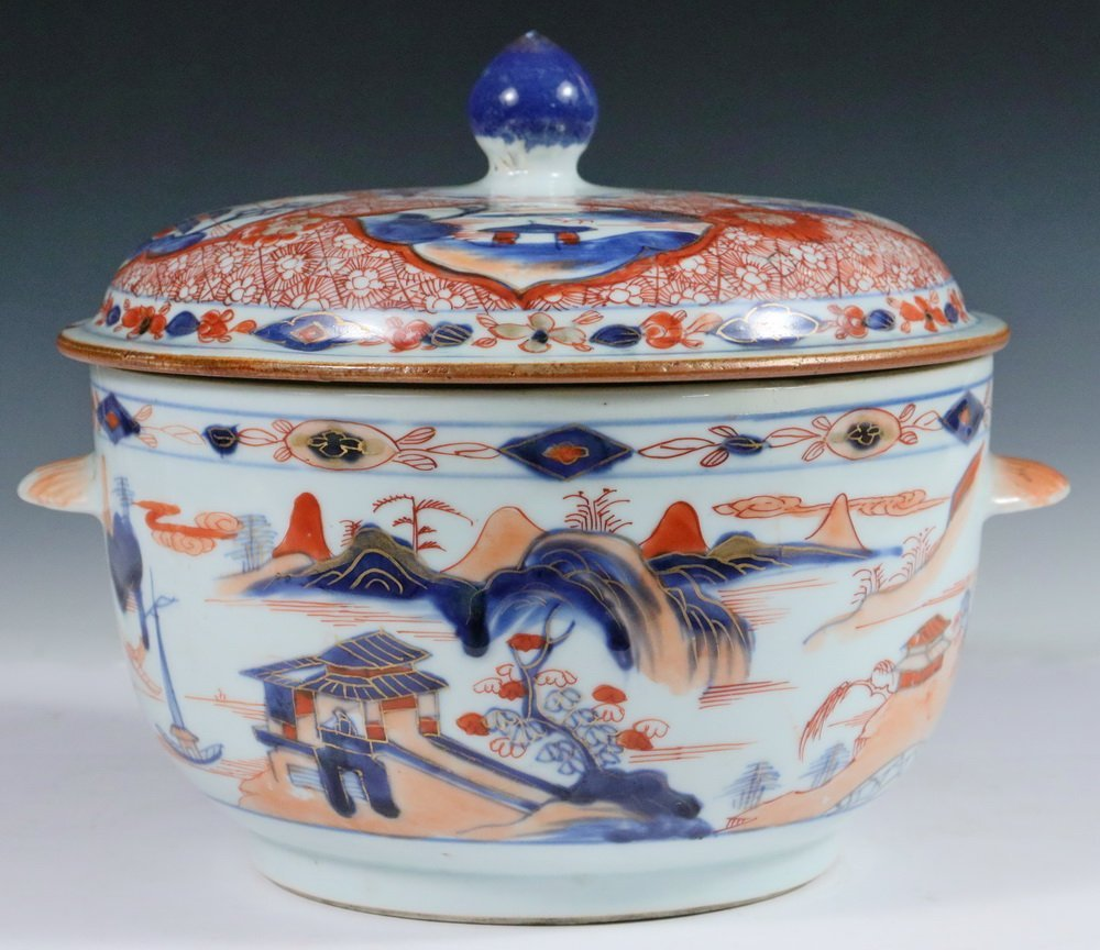 TUREEN - Chinese Export Imari Decorated Round Lidded - 2