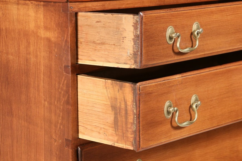 COLONIAL TALL CHEST - New England Chippendale - 2