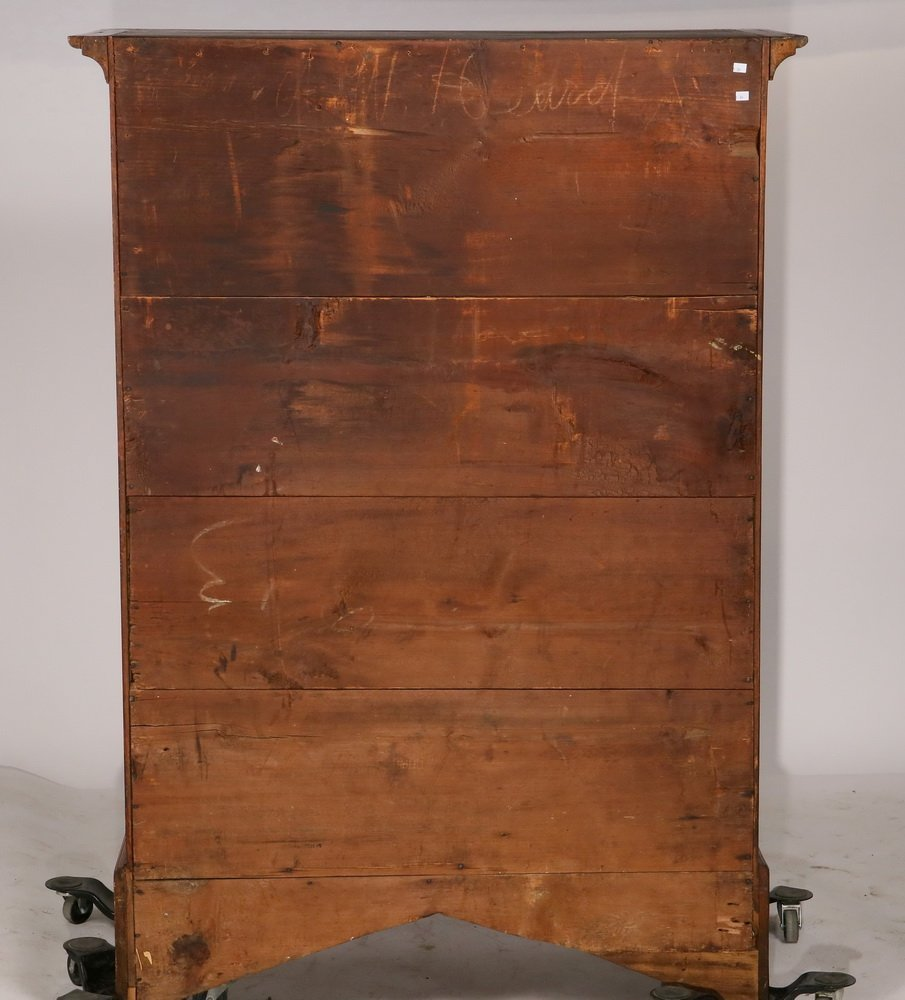 COLONIAL TALL CHEST - New England Chippendale - 3