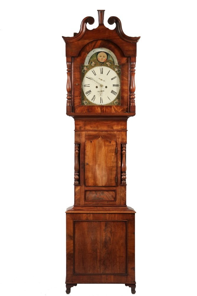 TALL CASE CLOCK - Country Chippendale Grandfather Clock