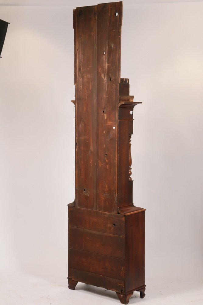 TALL CASE CLOCK - Country Chippendale Grandfather Clock - 9