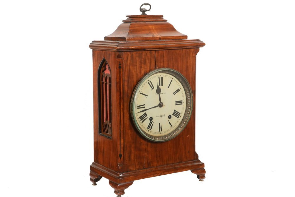 GERMAN BRACKET CLOCK - Gothic Revival Clock by