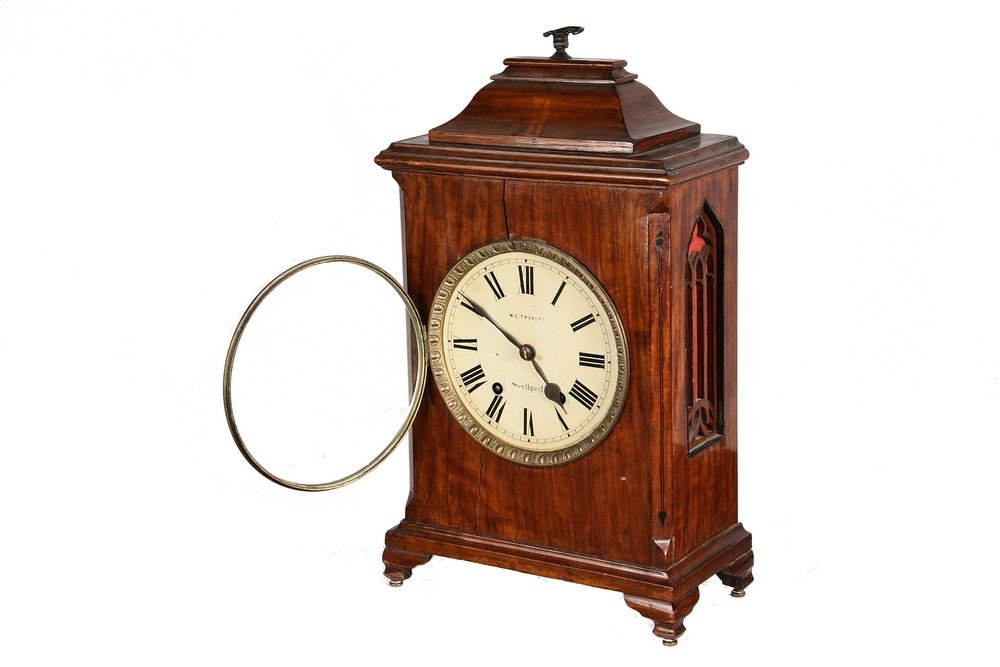 GERMAN BRACKET CLOCK - Gothic Revival Clock by - 2