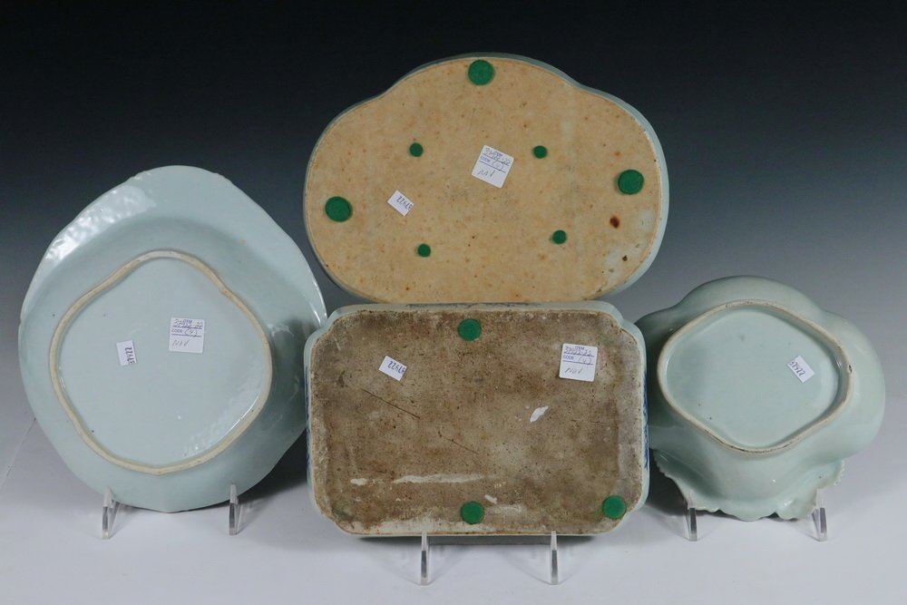 SERVING PCS - Collection of (4) 19th c. Chinese Export - 2