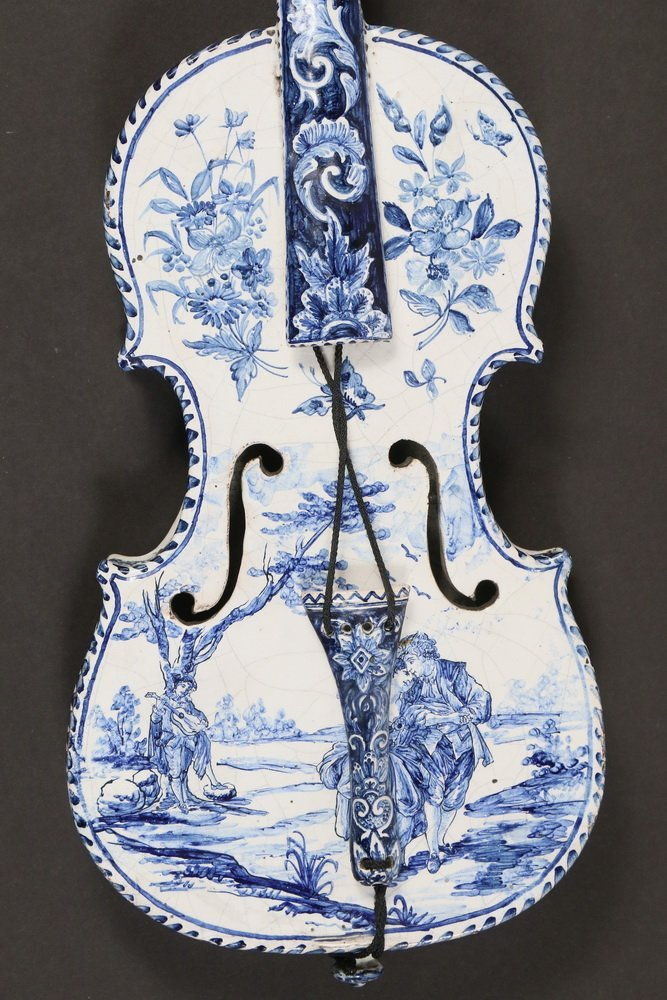 DECORATIVE DELFT MUSICAL INSTRUMENT - Late 18th - early - 4