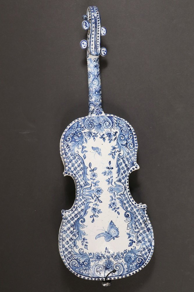 DECORATIVE DELFT MUSICAL INSTRUMENT - Late 18th - early - 6