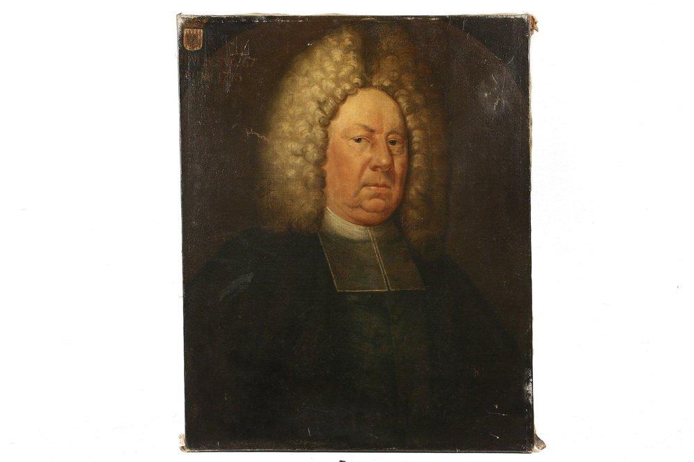 18TH C. ECCLESIASTICAL PORTRAIT - Bust Portrait of a