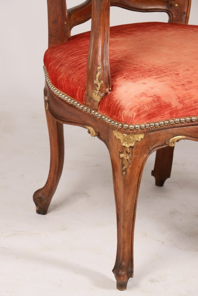 PAIR OF ARMCHAIRS - Pair of Early Continental Louis XV - 3