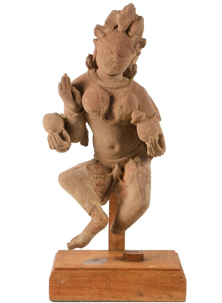 ANCIENT CONTINENTAL INDIAN SCUPLTURE - Indian Red