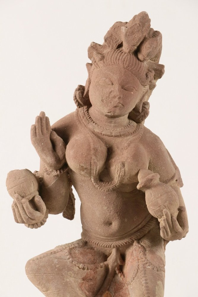 ANCIENT CONTINENTAL INDIAN SCUPLTURE - Indian Red - 2