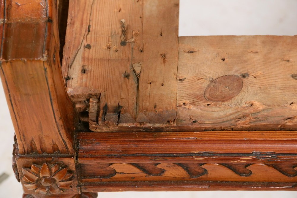 18TH C. SOFA FRAME - Adams Period Four-Shield Back - 5